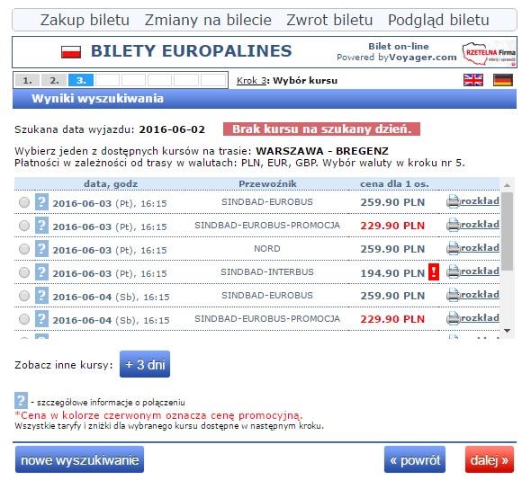 Bilety autokarowe Eurobus Austria