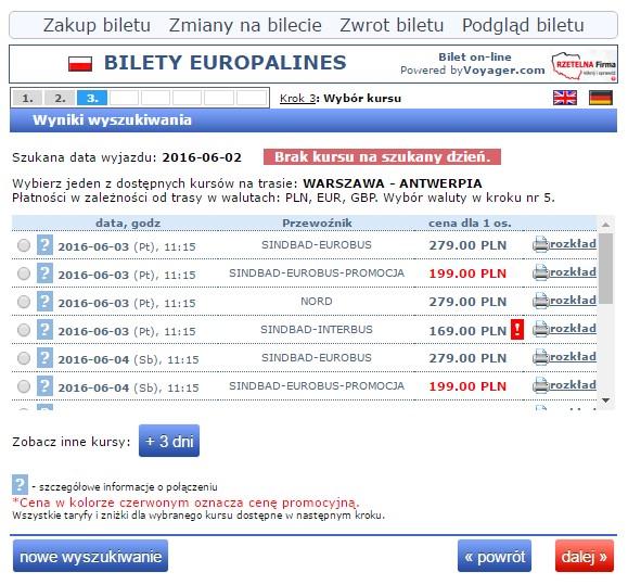 Bilety autokarowe Eurobus Polska Belgia