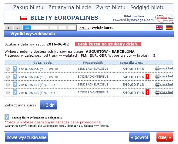 Bilety autokarowe Eurobus Polska Hiszpania