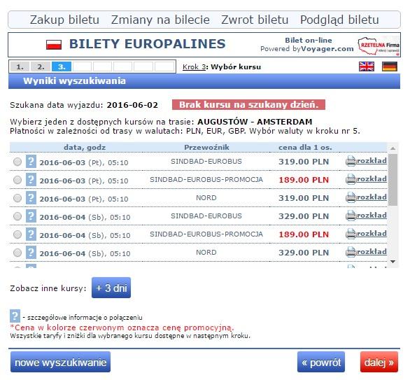 Bilety autokarowe Eurobus Polska Holandia