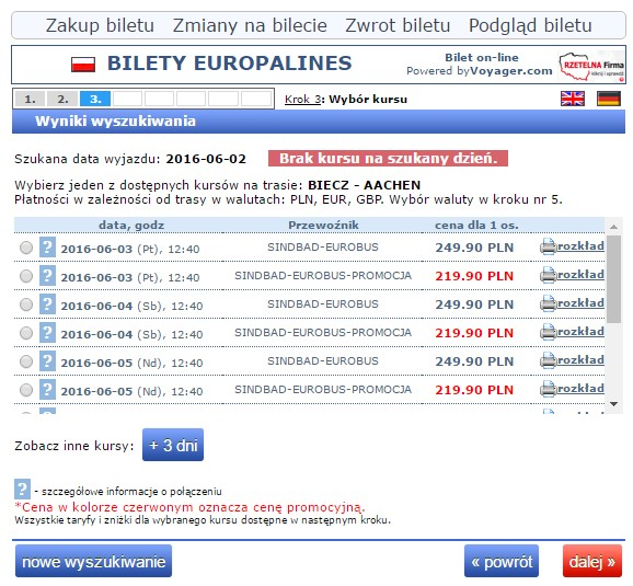 Bilety autokarowe Eurobus Polska Niemcy