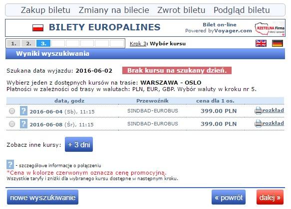 Bilety autokarowe Eurobus Polska Norwegia