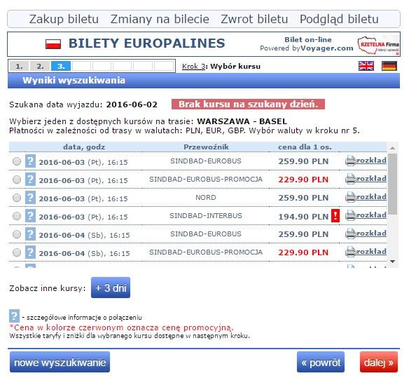 Bilety autokarowe Eurobus Polska Szwajcaria