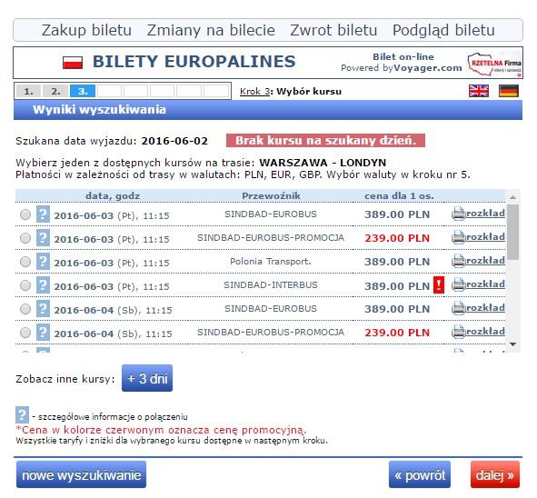 Bilety Eurobus Anglia