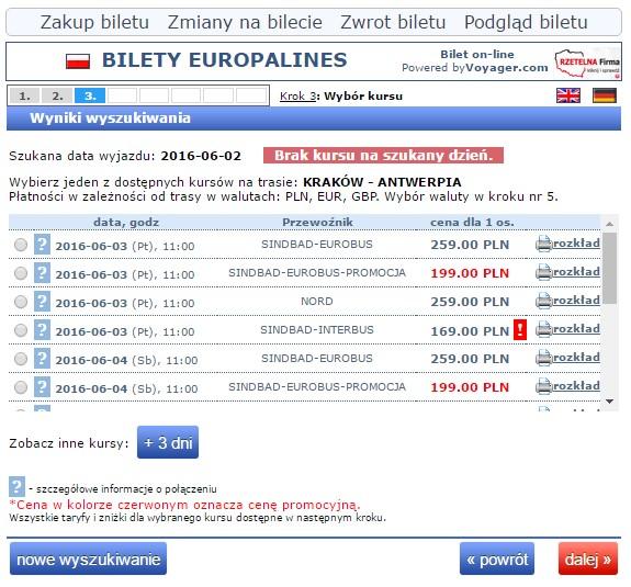 Bilety autokarowe Eurobus Kraków Antwerpia