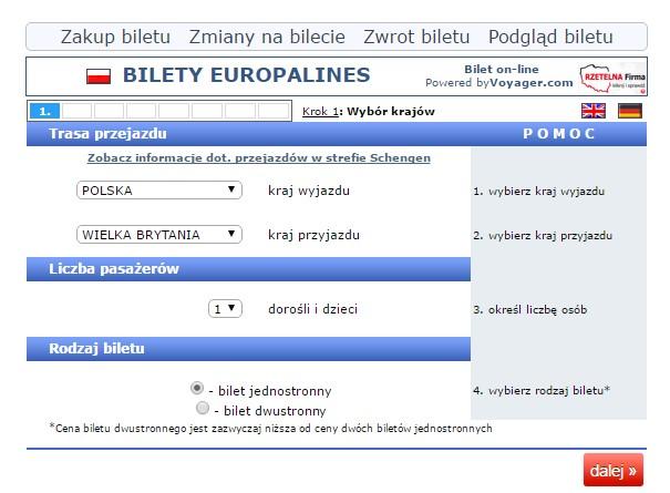 Bilety autokalrowe Gdynia Berwick upon Tweed