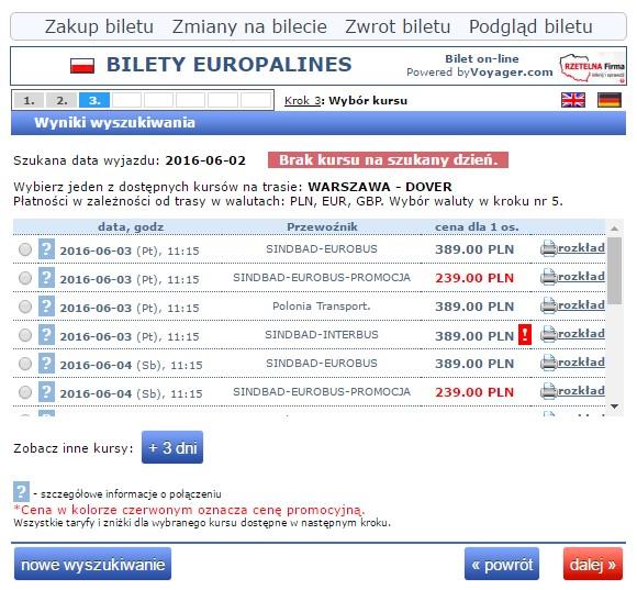 Bilety autokarowe Eurobus Dover