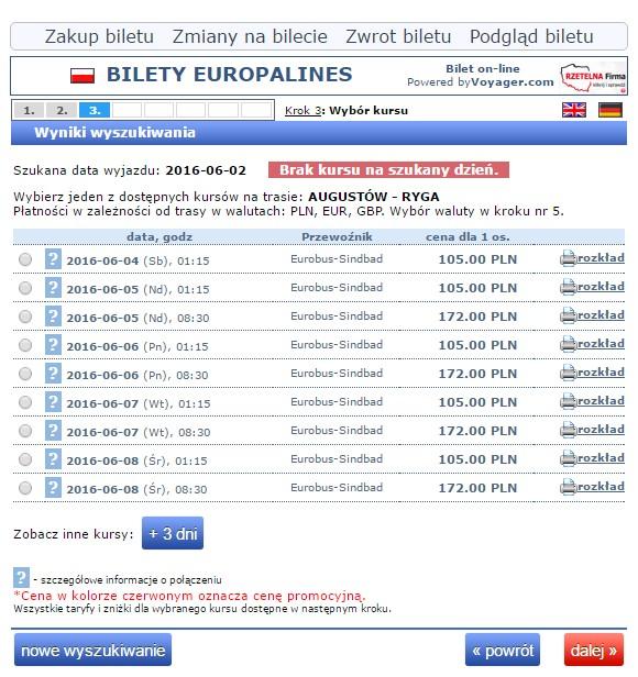 Bilety autokarowe Eurobus Polska Łotwa