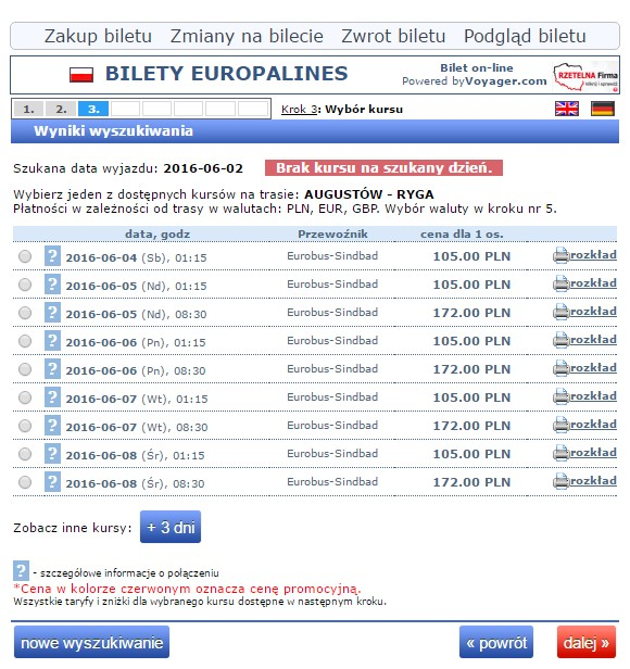 Bilety autokarowe Eurobus Polska Ryga